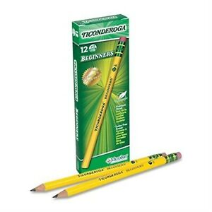 Dixon Ticonderoga Beginners Primary Pencils 2 Yellow Box Of 12 13308 5 Pa