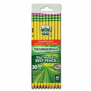 Dixon Dix13830bn Ticonderoga No 2 Pre sharpened Pencils 30 pk 2 Packs ct
