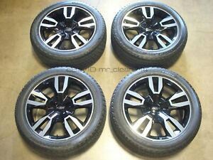 22 18 19 Chevy Suburban Tahoe Black Premier Wheels Tires Factory Rims Oem Rst