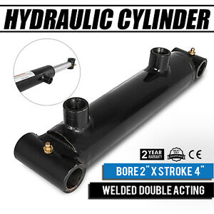 Hydraulic Cylinder 2 Bore 4 Stroke Double Acting Sae 6 Maintainable Cross Tube