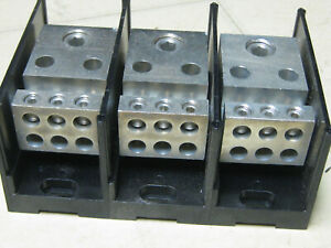 Burndy Bdb 16 500 3 Power Distribution Block New