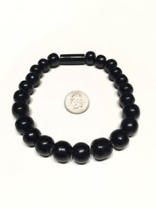 Pre Columbian Style Obsidian Beads