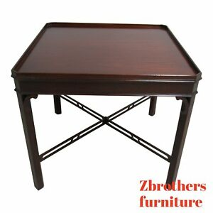 Councill Craftsman Furniture Federal Mahogany Square Lamp End Table