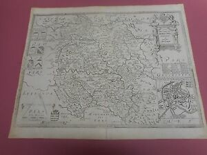 100 Original Large Herefordshire Map By Saxton P Lea C1693 Scarce