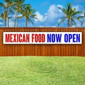 Mexican Food Now Open Advertising Vinyl Banner Flag Sign Large Huge Xxl Size