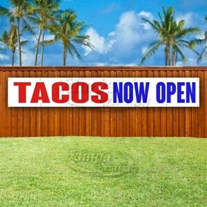 Tacos Now Open Advertising Vinyl Banner Flag Sign Large Huge Xxl Size