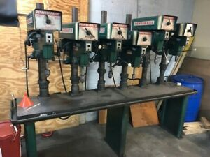Powermatic 6 Spindle Drill Press And Table Model 1150a Adjustable Speed