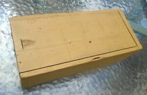 Antique Dovetail Wood Box In Old Mustard Yellow Paint