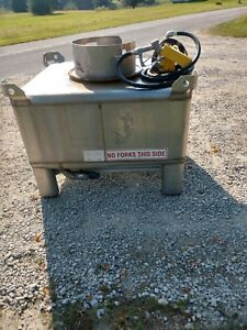 175 Gallon Stainless Steel Fuel Tank Transfer Storage Gas Diesel Biodiesel Farm