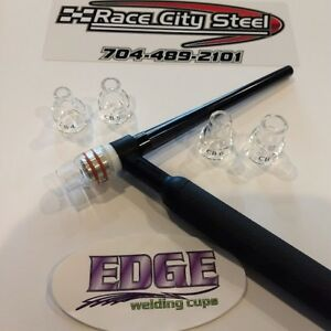 Edge Tig Welding Pyrex Cup Kit For 9 20 Series Torches Using Gas Lens