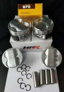 84mm Hpr B20 High Compression Full Floating Pistons Rings Swap B18 B16