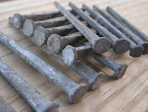 15 Old Vintage Galvanized Square Cut Nails 3 Nice Unused Free Shipping