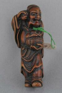 Carved Wood Netsuke Japan Edo Period