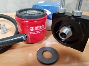 Racing External Spin On Transmission Filter With Allison Filter And Magnet