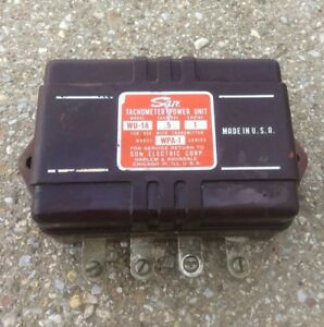 Vtg 50 s 60 s Sun Wu 1a Tachometer Power Unit Use W Wpa 1 Transmitter Hot Rod