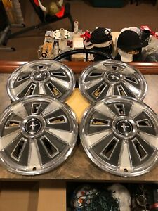 Vintage Ford Mustang 65 66 Wheel Cover Hub Caps C6za 14 Inch Tires