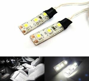 Pair 3 Smd Led Strip White Waterproof Under Dash Courtesy Stereo Light For Scion