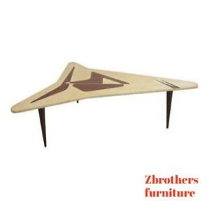 Custom Mahogany Boomerang Space Age Mid Century Danish Coffee Table A