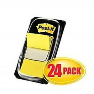 Post it Flags Value Pack Yellow 1 In Wide 50 dispenser 24 Dispensers pack
