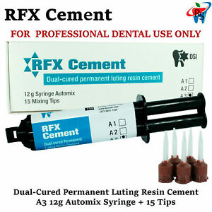 Dental Rfx Resin Permanent Radiopaque Crown Bridge Cement 12g Automix A3