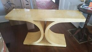 Vintage Hall Entry Table Mid Century Modern Console Style Of Karl Springer