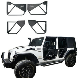 4pcs Grape Chinese Characters Tube Doors For 07 18 Jeep Wrangler Jk