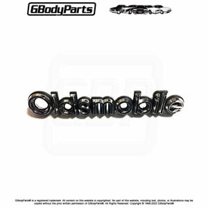 81 88 Cutlass oldsmobile Front Bumper Cover Script Emblem Adhesive Backed