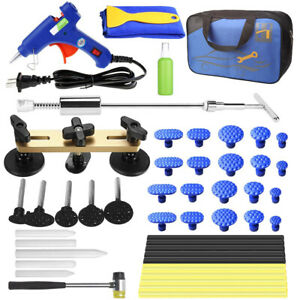 Paintless Dent Puller Tools Auto Body Hail Damage Door Ding Repair Kits W179449a