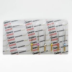Dentsply Rotary Protaper Gold Files 1 Pack 6 Files Per Pack 21mm Free Shipping