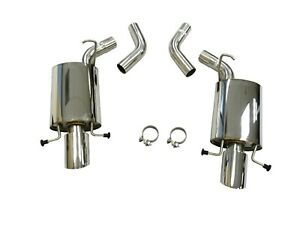 Mhp Stainless Axleback Dual Exhaust For 2009 14 Cadillac Cts v 6 2l At mt Lsx