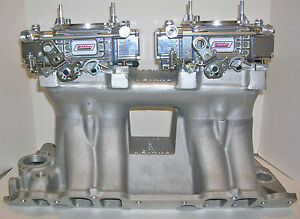 Quick Fuel 600 Cfm Dual Quad Carburetors 2x4 Tunnel Ram Vacuum Customized Free