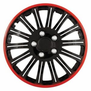 Pilot Cobra Black Chrome With Red Accent 16 Wheel Cover Wh527 16re bx 4pcs