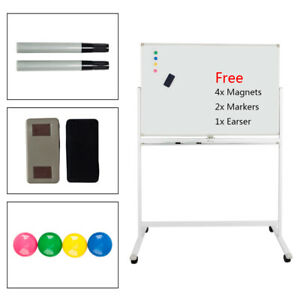 48x32 Whiteboard Freestanding Double side Magnetic 6 Feet Office Home Board New