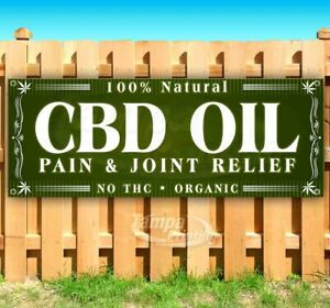 Cbd Pain And Joint Relief Natural Advertising Vinyl Banner Flag Sign Many Sizes