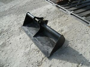 Bobcat E26 Mini Excavator Attachment 48 Ditch Cleaner Smooth Bucket White