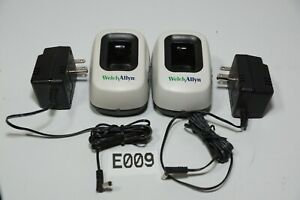 Lot Of 2 Welch Allyn 739 Series Charger Base W Ac Power Supply