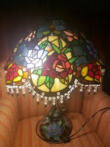 Vintage Stain Glass Table Lamp Gorgeous