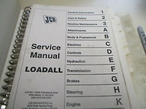 Jcb 500 Loadall Telehandler Service Manual
