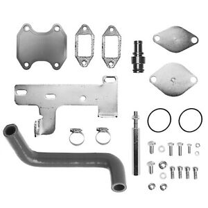 Cummins Egr Valve Cooler Delete Kit For 10 16 Dodge Ram 2500 3500 L6 6 7l Diesel