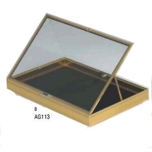 Portable Aluminum Glass Jewelry Display Case Gold Showcase Made In The Usa New