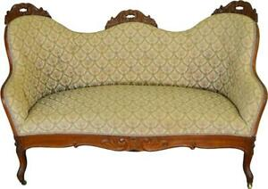 17457 Victorian Diminutive Sofa Pre Civil War