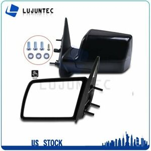 For 1988 1999 Chevy Gmc Pickup Truck Manual Side Mirrors Pair Set Left Right