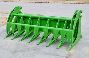 John Deere Tractor Loader Attachment 84 Root Rake Grapple Bucket Ship 199
