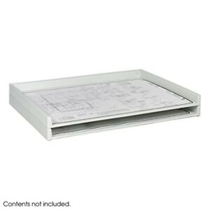 Safco Hanging File Folders Giant Stack Tray For 30 X 42 Documents White