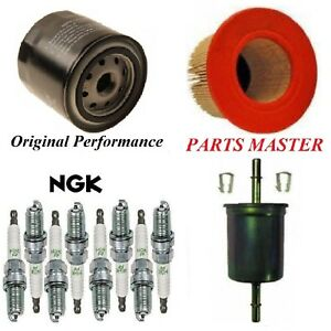 Tune Up Kit Air Oil Fuel Filters Spark Plug For Ford Mustang V8 4 6l 1998 2004