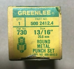 Greenlee 730 Draw Stud Punches Radio Punch Sets Assorted Sizes