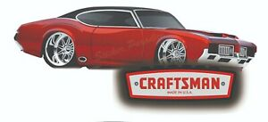 Craftsman Tool Sticker Hot Rod Decal 442 Cutlass Olds Toolbox Sign Chest Usa