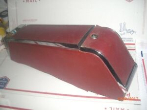 1965 1966 Cadillac Deville Convertible Original Bucket Seat Console Red