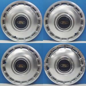 1984 1985 Ford Tempo 836 13 Hubcaps Wheel Covers Oem E53c1130ca Used Set 4