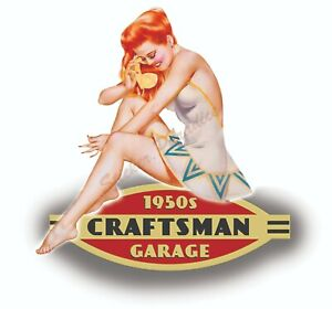 Craftsman Tool Sticker 1950 Dreamy Sexy Girl Decal Mechanic Toolbox Chest Usa